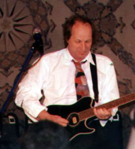 ... Belew can wail and burn on any form of guitar! Photo courtesy Coming Age