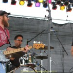 Anders Osborne Trio with Anders, Carl Dufrene on bass and Eric Bolivar on drums