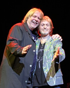 Founding members of the Yes Former Bandmate Mutual Admiration Society, Rick Wakeman (L) and Jon Anderson (R). Photo courtesy of Glass Onyon