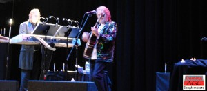 Wakeman ( r ) and Anderson test drive some new material from their new collaborative LP The Living Tree as well as cruise some classic YES tunes in the Poconos. Photo by Lynn Vala